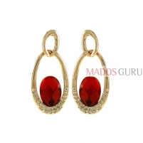 Decorated earrings A734