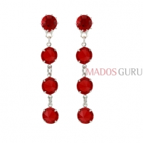 Decorated earrings A750