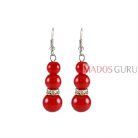 Decorated earrings A770