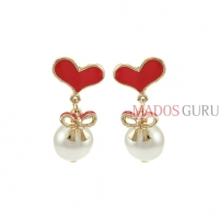 Decorated earrings A828