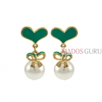 Decorated earrings A829