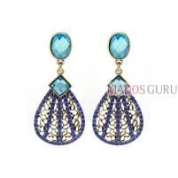 Decorated earrings A831