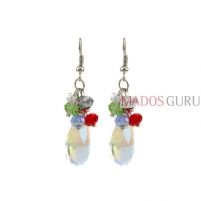 Decorated earrings A849