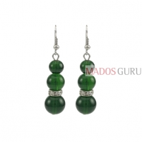 Decorated earrings A856