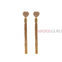 Decorated earrings A877