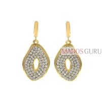 Decorated earrings A896