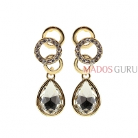 Decorated earrings A980