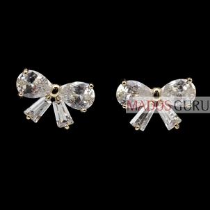 "Decorated earrings ""Ribbon'' A222 Earrings"