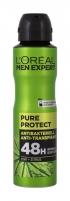 Purškiamas antiperspirantas L´Oréal Paris Men Expert Pure Protect 150ml 48H Dezodorantai/ antiperspirantai