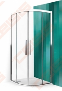 Pusapvalė dušo kabina ROLTECHNIK EXCLUSIVE ECR2N/100 juodos spalvos profilis + skaidrus (Transparent) stiklas