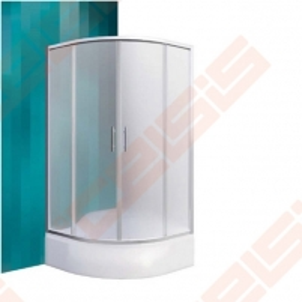 Pusapvalė dušo kabina ROLTECHNIK Medison Neo/900 blizgaus chromo(Brillant) spalvos profilis + tamsintas(Rauch) stiklas
