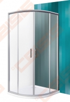 Pusapvalė dušo kabina SANIPRO HGR2/900 su dviejų elementų slankiojančiomis durimis bei brilliant spalvos profiliu ir skaidriu stiklu