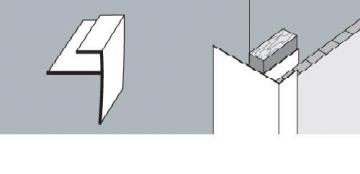 PVC dailylentės F profilis 3 m. didelis baltas