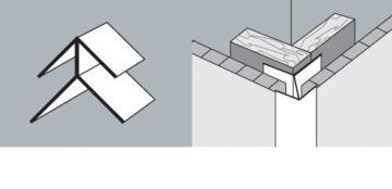 Kampas išorinis PVC dailylentės 3 m, balta
