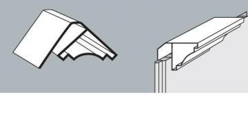 PVC dailylentės lubinis kampas 3 m, balta spalva
