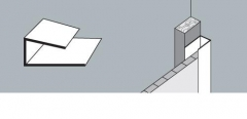 Kampas pradžios-pabaigos PVC dailylentės 2,6 m, baltas