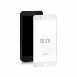Qoltec Apsauginis grūdintas stiklas Qoltec Premium skirtas iPhone 7 | Balta | 3D Mobilių telefonų priedai