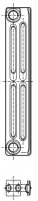 Radiatorius ketinis sekcijinis TERMO 500/95 (grunto spalva RAL7035) Ketiniai radiatoriai