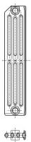 Radiatorius ketinis sekcijinis TERMO 623/130 (grunto spalva RAL7035)