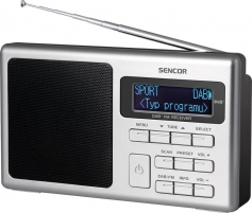 Radijas Digital Radio DAB+ / FM-PLL SENCOR SRD 6400 Radijo imtuvai