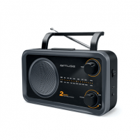 Radijas Muse 2-bands portable radio M-06DS Grey, AUX in Radijo imtuvai