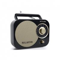 Radijas Muse Portable radio M-055RB Black/Gold, AUX in