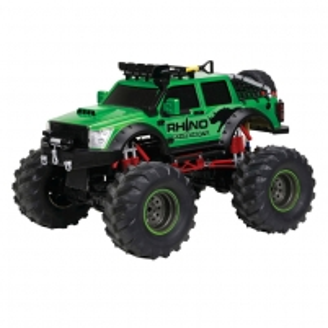 Radio bangomis valdomas automobilis 1:12 R/C 4x4 Rhino Expedition Green, 9.6v pack RC automobiliai vaikams