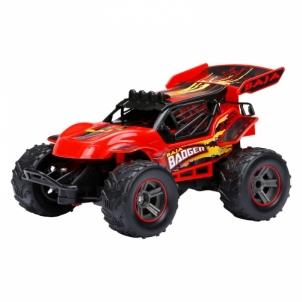 Radio bangomis valdomas automobilis 1:24 R/C Mini Baja Red RC automobiliai vaikams