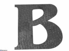 Raidė B (didžioji), L13KZ116 Kalviškos raidės, skaičiai