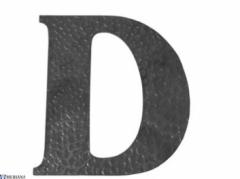 Raidė D (didžioji), L13KZ118 Kalviškos raidės, skaičiai