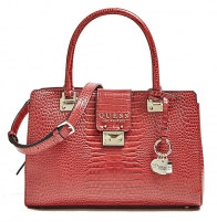 Handbag Guess Cleo Girlfriend Satchel Merlot-Mer Handbag/delninukės