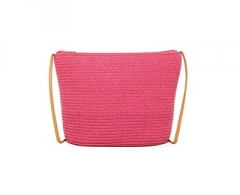 Rankinė Magid Crossbody Bag Paper Straw Crossbody Fuchsia