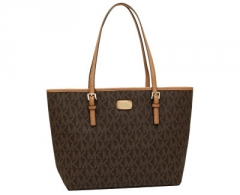 Handbag Michael Kors Elegant Jet Set Carry all Tote - Brown
