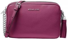 Rankinė Michael Kors Ginny Leather Crossbody Bag Garnet