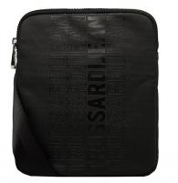 Handbag Trussardi Men´s crossbody Bag Logo Stripe Reporter Sm Coated Canvas Handbag