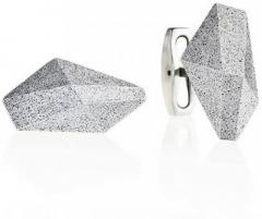 Rankogalių segtukai iš plieno ir krištolo Gravelli GJCMNAG005UN Sąsagos