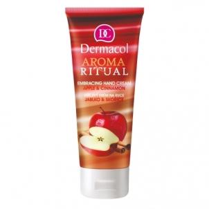 Rankų kremas Dermacol Aroma Ritual Hand Cream Apple & Cinnamon Cosmetic 100ml Rankų priežiūros priemonės