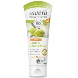 Rankų kremas Lavera Caring hand cream and nail 2v1 75 ml Rankų priežiūros priemonės