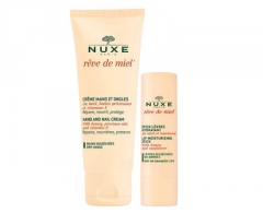 Hand cream Nuxe Hydrating Care Reve de Miel (Hand and Nail Cream + Lip Stick) Hand care