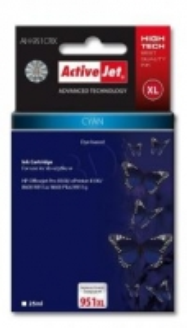 Rašalas ActiveJet AH-951CRX | Cyan | 25 ml | HP HP 951XL CN046AE