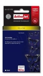 Rašalas ActiveJet AH-951YRX   Yellow   25 ml   HP HP 951XL CN048AE