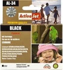Rašalas ActiveJet AL-34 | Black | 25 ml | Refill | Lexmark 18C0034E