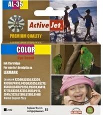 Rašalas ActiveJet AL-35 | Color | 21 ml | Refill | Lexmark 18C0035E