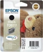 Rašalas Epson T0611 black DURABrite | Stylus D68 Photo Edition/88/88 Plus,DX3800