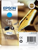 Rašalas Epson T1622 cyan DURABrite | 3,1 ml | WF-2010/25x0