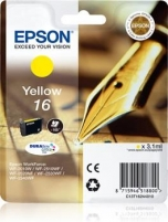 Rašalas Epson T1624 yellow DURABrite | 3,1 ml | WF-2010/25x0