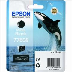 Rašalo kasetė Epson T7608 Matte Black ink 26ml