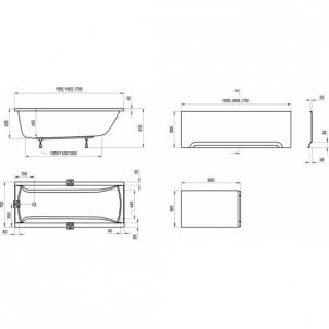 RAVAK CLASSIC 160x70, akrilinė vonia