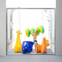Ravak Dušo durys Blix BLDP4 1700X1900 Shower wall