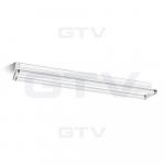 Reflektorius simetrinis, baltas, sumažintas, šviestuvui 2x36W Liuminisencinių lempų šviestuvai